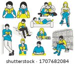 vector illustration character... | Shutterstock .eps vector #1707682084