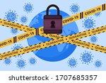 global lockdown concept.... | Shutterstock .eps vector #1707685357