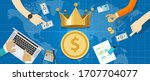 cash is king concept the... | Shutterstock .eps vector #1707704077