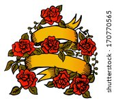 ribbon with roses. vector... | Shutterstock .eps vector #170770565
