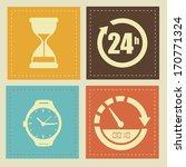 time design over beige... | Shutterstock .eps vector #170771324