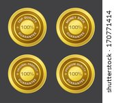 100 percent guarantee gold seal ... | Shutterstock .eps vector #170771414