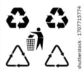 recycle icon set  vector eps10. | Shutterstock .eps vector #1707715774