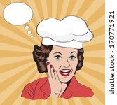 lady chef   retro illustration... | Shutterstock .eps vector #170771921