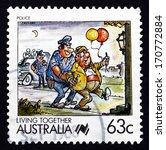 australia   circa 1988  a stamp ...   Shutterstock . vector #170772884