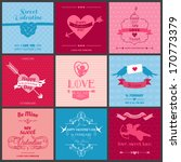 set of love cards   wedding ... | Shutterstock .eps vector #170773379