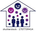 illustration of indoor air... | Shutterstock .eps vector #1707739414