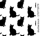 Stock vector cats seamless pattern 170773979