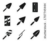 Construction Trowel Icons Set....