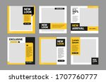 set of editable square banner... | Shutterstock .eps vector #1707760777