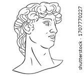 antique statue head...   Shutterstock .eps vector #1707770227
