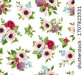 vector seamless pattern with... | Shutterstock .eps vector #1707823531