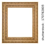 picture frame gold wood frame... | Shutterstock . vector #170782805