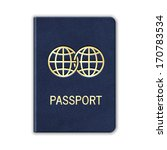 realistic passport. isolated on ... | Shutterstock .eps vector #170783534