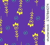 vector seamless pattern with... | Shutterstock .eps vector #1707864274
