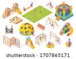 isometric items or equipment... | Shutterstock .eps vector #1707865171