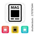 magazine icon. vector...