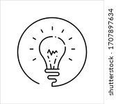 bulb vector icon. idea flat...