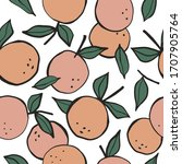 seamless pattern with oranges....   Shutterstock .eps vector #1707905764
