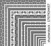 vector set of corner brushes ... | Shutterstock .eps vector #1707924457