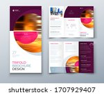 tri fold brochure design with... | Shutterstock .eps vector #1707929407
