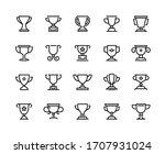 trophy cup line icons.... | Shutterstock .eps vector #1707931024