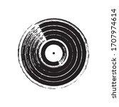 Vintage Vinyl Record. Vector...