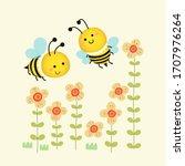 vector illustration of cute... | Shutterstock .eps vector #1707976264