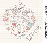 valentine heart . vector  | Shutterstock .eps vector #170800901