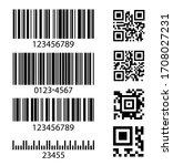 Set Of Abstract Barcode Bar...