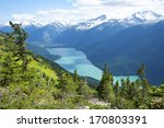 Cheakamus Lake near Whistler, BC, Garibaldi Provincial Park, Canada - stock photo
