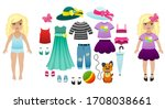 Paper Doll With Clothes. Vector ...