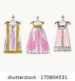 vector fashionable beautiful... | Shutterstock .eps vector #170804531
