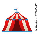 Illustration Open Circus Stripe ...