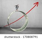 businessman surfing on money... | Shutterstock . vector #170808791
