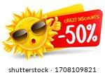 cheerful sun character in... | Shutterstock .eps vector #1708109821