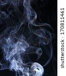 art of smoke on black background | Shutterstock . vector #170811461
