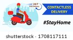 online home delivery concept.... | Shutterstock .eps vector #1708117111