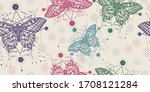 beautiful swallowtail.... | Shutterstock .eps vector #1708121284