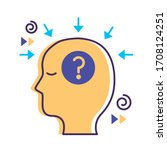 profile with question symbol... | Shutterstock .eps vector #1708124251