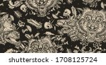 Dark Seamless Pattern. Gothic...