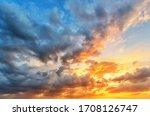 Cloudscape Of Cumulus Sunset...