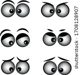 set cartoon eye in vector high...   Shutterstock .eps vector #1708128907