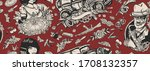 gangsters. seamless pattern.... | Shutterstock .eps vector #1708132357