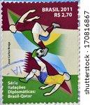 brazil   circa 2011  a stamp... | Shutterstock . vector #170816867