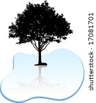 black tree silhouette. vector... | Shutterstock .eps vector #17081701