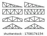 truss icon set. roofing steel... | Shutterstock .eps vector #1708176154