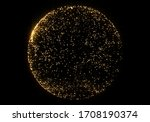 gold glittering ball. magic... | Shutterstock . vector #1708190374