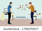 social distancing to care from... | Shutterstock .eps vector #1708193017