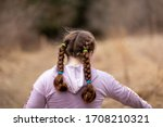 Girl With Pony Tails Walking I...
